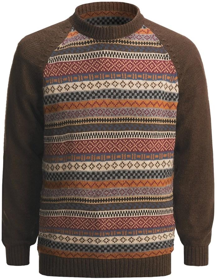 San York Geometric Pullover Sweater - Alpaca (For Men)