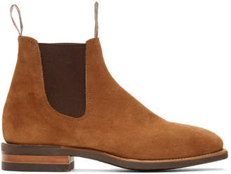 R.M. Williams Brown Suede Blaxland Chelsea Boots