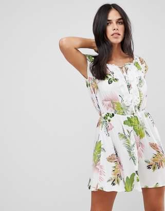 AX Paris Off The Shoulder Printed Dress