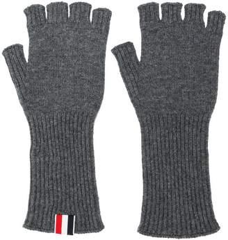 Thom Browne Fingerless Cashmere Gloves