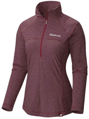 Columbia Women's Oklahoma Sooners Layer First Quarter-Zip Pullover