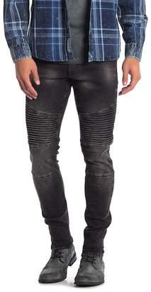 ProjekRaw Projek Raw Black Washed Moto Jeans