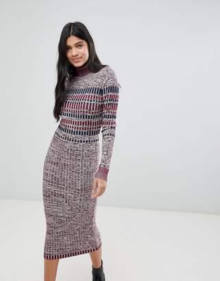 Deby Debo Laurianne Roll Neck Knit Midi Dress