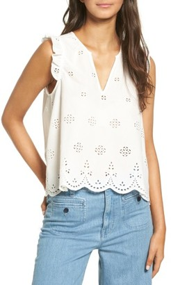 Women's Madewell Eyelet Garden Sleeveless Top $69.50 thestylecure.com