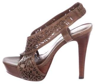 Diane von Furstenberg Iris Perforated Leather Sandals