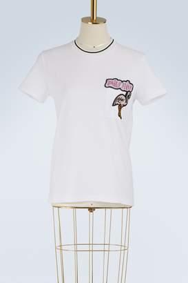 Miu Miu Logo embroidered t-shirt
