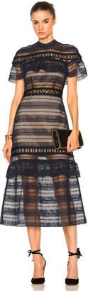 self-portrait Drape Shoulder Midi Dress $595 thestylecure.com