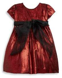 Isabel Garreton Baby's Sparkle Bow Velvet Dress