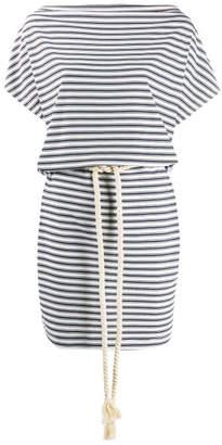 Emporio Armani Ea7 Striped Short Dress