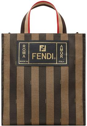 Fendi striped tote bag