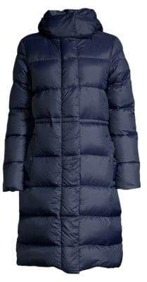 Canada Goose Women's Black Label Arosa Quilted Hooded Parka - Admiral Blue Multi - Size XS