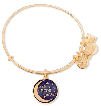 Women's Alex And Ani 'To The Moon And Back' Adjustable Wire Bangle $28 thestylecure.com