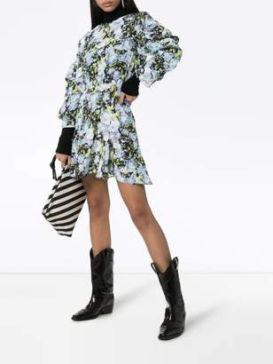 Les Rêveries Floral print mini-dress