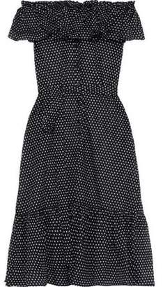 Lisa Marie Fernandez Off-the-shoulder Rick Rack-trimmed Linen Midi Dress