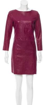 Drome Leather Mini Dress