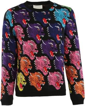 Gucci Jaguar Intarsia Jumper