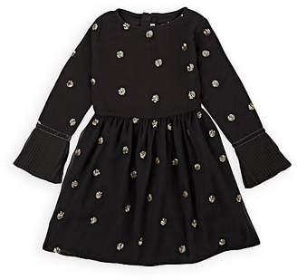 Billieblush Kids' Sequined Crepe Dress