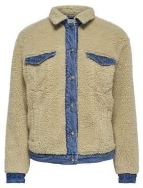 Only Presley Teddy Denim Jacket