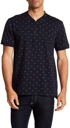 Kenneth Cole New York Short Sleeve Zip-Up Shirt