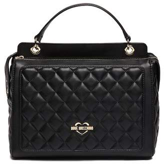 Love Moschino Quilted PU Leather Evening Bag