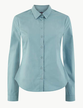 M&S CollectionMarks and Spencer Cotton Rich Button Detailed Shirt