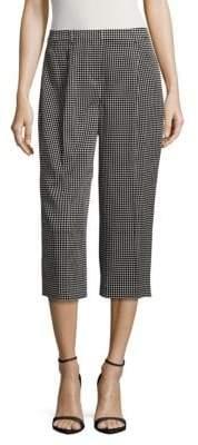 St. John Dot-Print Cropped Pants