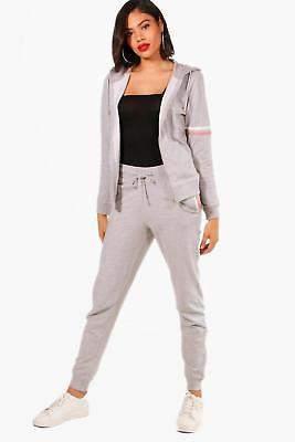 Damen Neve Fit Athleisure-Trainingsanzug mit Reißverschluss in Grau größe