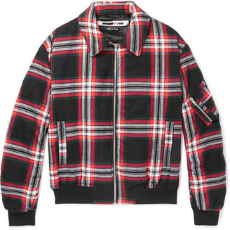 McQ Quilted Checked Brushed-Cotton Blouson Jacket
