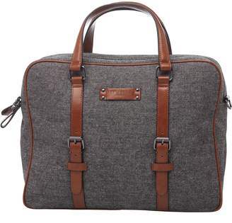 Mens Spadee Wool Document Bag Grey