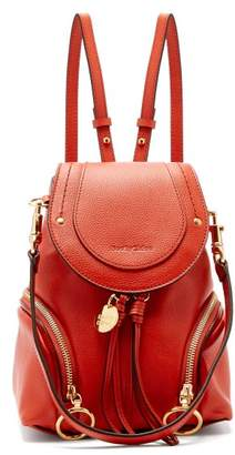 See by Chloe Olga Grained Leather Backpack - Womens - Red