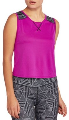 Danskin Juniors' Crop Muscle Tank with Cut Out Back