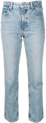 Alexander Wang back zip detail straight leg jeans