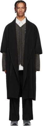 Issey Miyake Homme Plisse Black Robe Coat