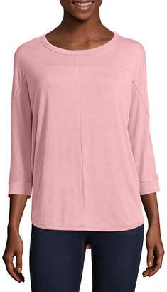 A.N.A Womens Round Neck 3/4 Sleeve T-Shirt