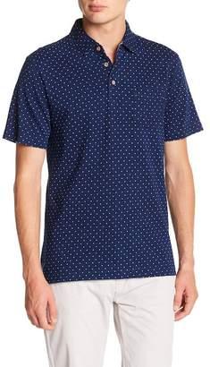 Tailor Vintage Indigo Dots Jersey Self Collar Polo