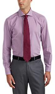 Barneys New York MEN'S CHECKED COTTON DRESS SHIRT - PURPLE SIZE 17 L