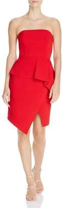 Adelyn Rae Samantha Strapless Asymmetric Dress
