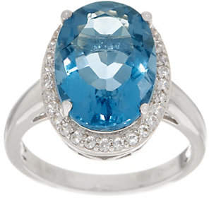 QVC Color Change Fluorite and White Zircon Ring,Sterling