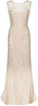 Jenny Packham Embellished Tulle Sleeveless Gown
