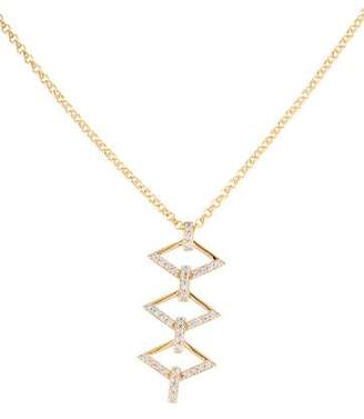 V1969 Sapphire Logo Ladder Necklace