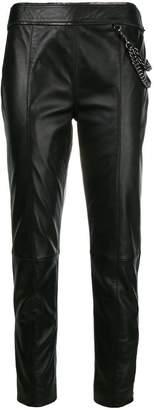 Moschino lambskin trousers
