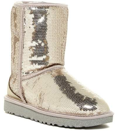 UGG Australia Classic Short Sparkles Genuine Shearling Lined Boot