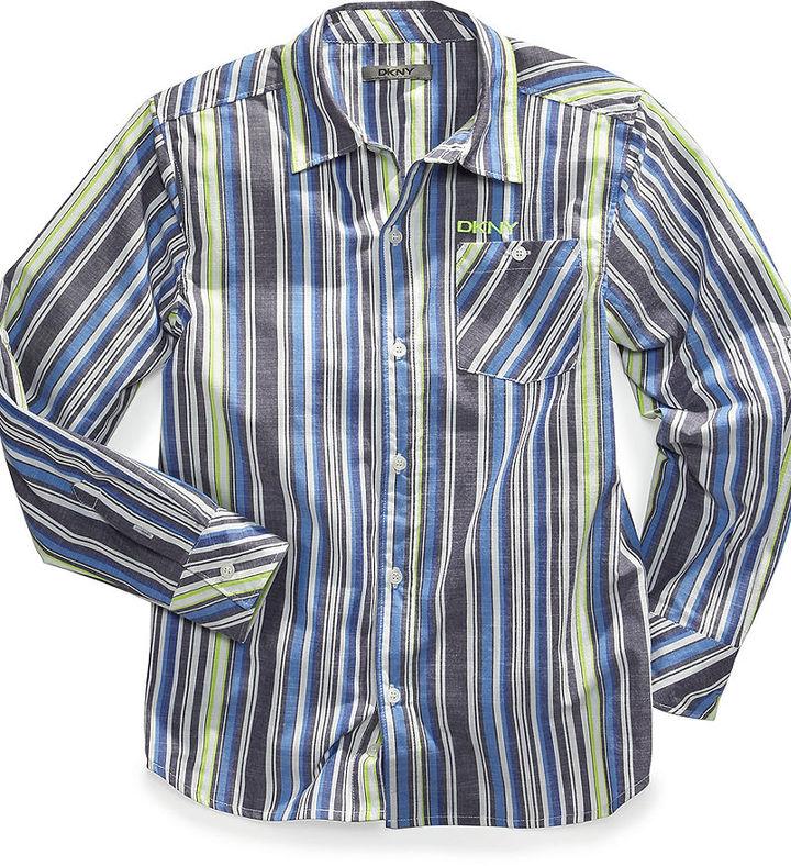 DKNY Shirt, Little Boys Cosmic Striped Shirt