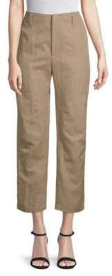 Brunello Cucinelli Solid Cropped Pants