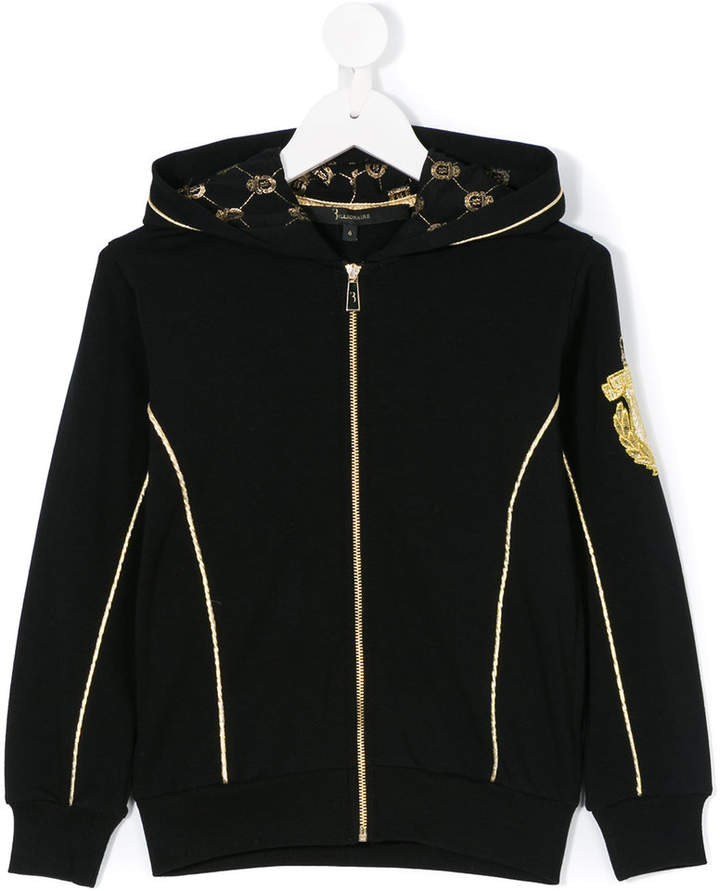 Billionaire Kids zipped hooded sweatshirt