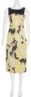 Dries Van Noten Printed Midi Dress w/ Tags
