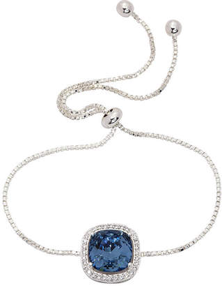 Swarovski CITY ROCKS City Rocks 1/3 CT. T.W. Blue Silver Tone Pure Silver Over Brass Bolo Bracelet