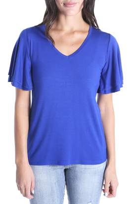 KUT from the Kloth Cassi Flutter Sleeve Tee
