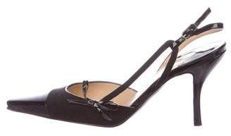 Chanel Square-Toe Slingback Pumps