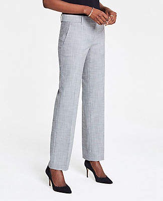 Ann Taylor The Tall Straight Pant In Crosshatch - Curvy Fit